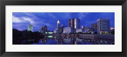 Framed USA, Ohio, Columbus, Scioto River Print