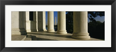 Framed USA, District of Columbia, Jefferson Memorial Print