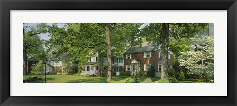 Framed Facade Of Houses, Broadmoor Ave, Baltimore City, Maryland, USA Print