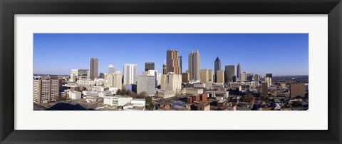 Framed Distant Skyline, Atlanta, Georgia Print