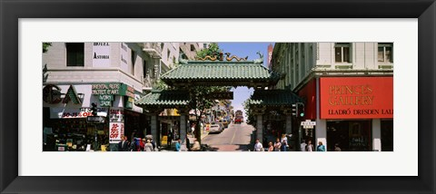 Framed USA, California, San Francisco, Chinatown, Tourists in the market Print
