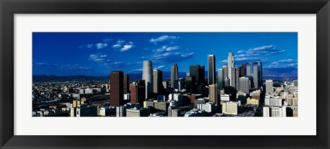 Framed Skyline from TransAmerica Center Los Angeles CA USA Print