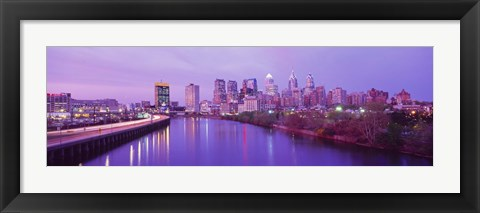 Framed Twilight Philadelphia PA USA Print