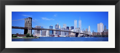 Framed New York Skyline with Twin Towers Print