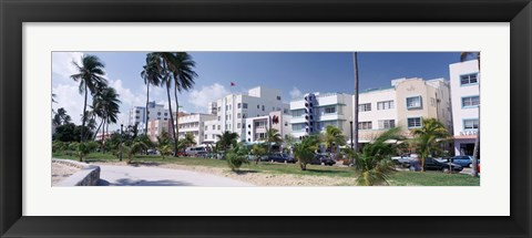 Framed Ocean Drive, South Beach, Miami Beach, Florida, USA Print