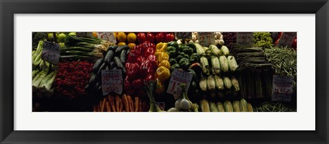 Framed Pike Place Market, Seattle, Washington Print