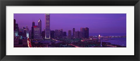 Framed Evening Chicago IL USA Print