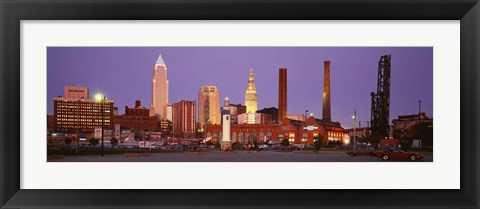 Framed Skyline, Cleveland, Ohio, USA Print