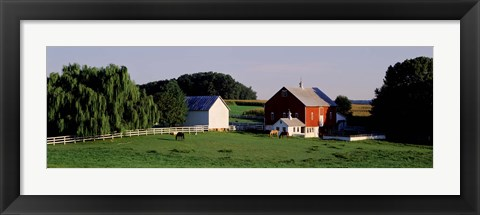 Framed Farm, Baltimore County, Maryland, USA Print