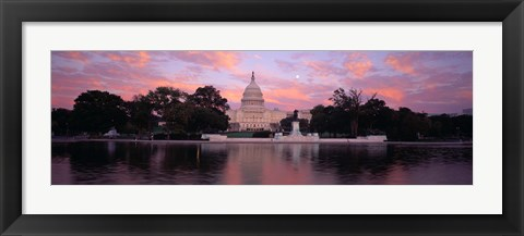 Framed US Capitol at Dusk, Washington DC Print