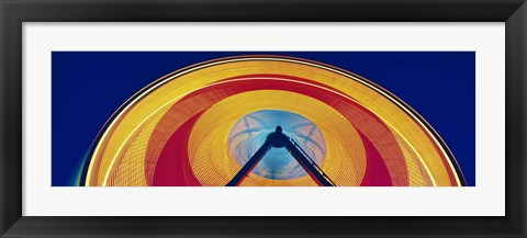 Framed Ferris Wheel at Rose Festival Carnival Portland OR USA Print