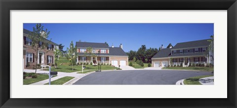 Framed Houses Along A Road, Seaberry, Baltimore, Maryland, USA Print