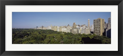 Framed High Angle View Of A Park, Central Park, NYC, New York City, New York State, USA Print