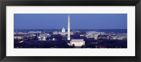 Framed High angle view of Washington DC Print