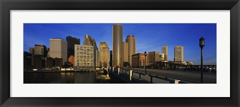 Framed Skyscrapers in a city, Boston, Massachusetts, USA Print