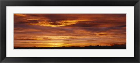 Framed Sky at sunset, Daniels Park, Denver, Colorado, USA Print