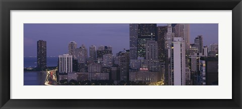 Framed Buildings in a city, Chicago, Cook County, Illinois, USA Print