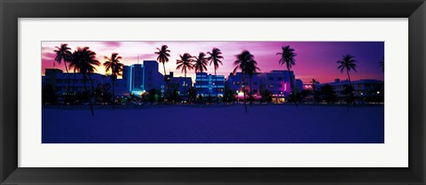 Framed Ocean Drive Miami Beach FL USA Print