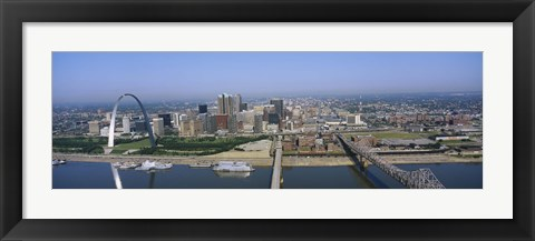 Framed High angle view of buildings in a city, St. Louis, Missouri, USA Print
