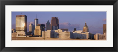 Framed Atlanta, Georgia Skyline Print