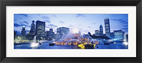 Framed Buckingham Fountain, Grant Park, Chicago, Illinois Print