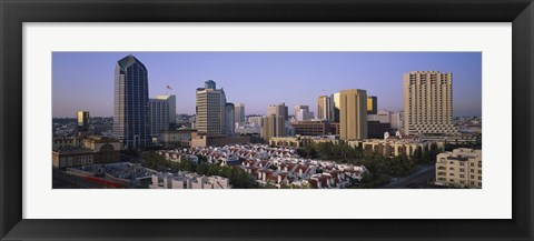 Framed Aerial view of San Diego, California Print