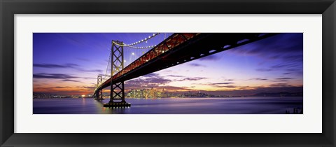 Framed Bay Bridge at Twilight Print