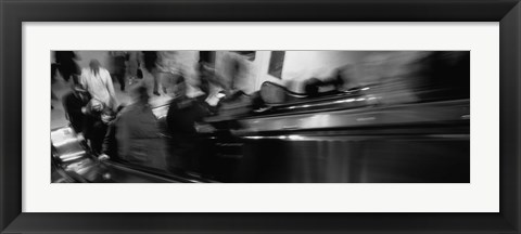 Framed Blurred Motion, People, Grand Central Station, NYC, New York City, New York State, USA, Print