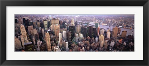Framed Aerial View of New York City Skyline Print