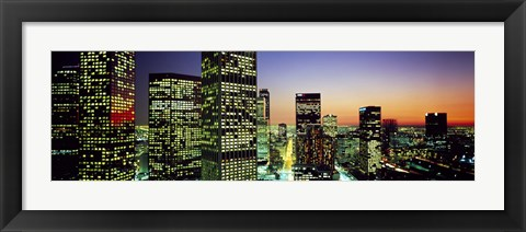 Framed Downtown Los Angeles CA USA Print