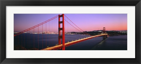 Framed Night Golden Gate Bridge San Francisco CA USA Print