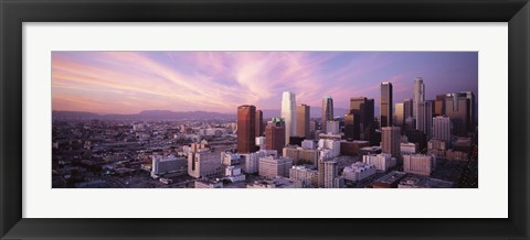Framed High Angle View Of The City, Los Angeles, California, USA, Print