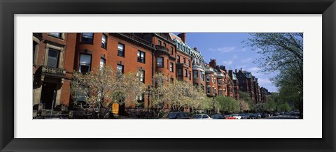 Framed Buildings in a street, Commonwealth Avenue, Boston, Suffolk County, Massachusetts, USA Print