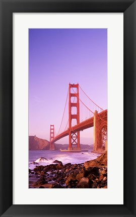 Framed Golden Gate Bridge (horizontal view) Print