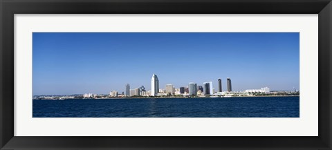 Framed Clear Blue Sky Over San Diego Print