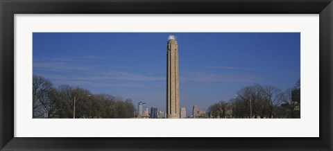 Framed Low angle view of a monument in a park, Liberty Memorial, Kansas City, Missouri, USA Print
