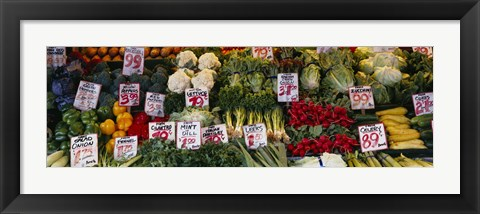 Framed Close-up of Pike Place Market, Seattle, Washington State, USA Print