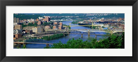 Framed Monongahela River Pittsburgh PA USA Print