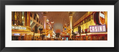 Framed USA, Nevada, Las Vegas, night Print