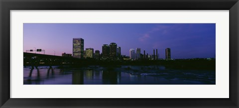 Framed Richmond, Virginia at Night Print