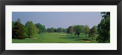 Framed Panoramic view of a golf course, Baltimore Country Club, Maryland, USA Print