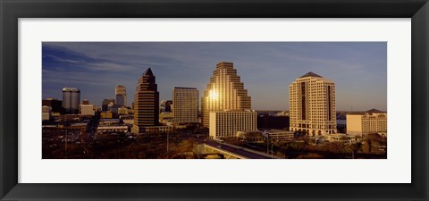 Framed Skyscrapers in a city, Austin, Texas, USA Print