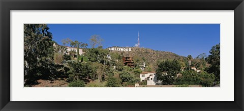 Framed USA, California, Los Angeles, Hollywood Sign at Hollywood Hills Print
