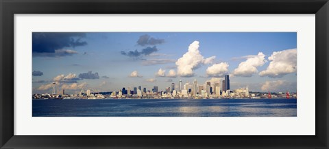 Framed Buildings at the waterfront, Elliott Bay, Seattle, King County, Washington State, USA, 1996 Print