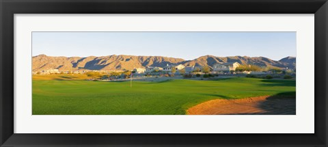 Framed Golf flag in a golf course, Phoenix, Arizona, USA Print
