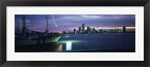 Framed Sailboat in the sea, Miami, Miami-Dade County, Florida, USA Print