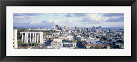 Framed Clouds Over San Diego Print