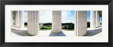 Framed Lincoln Memorial Columns, Washington DC Print