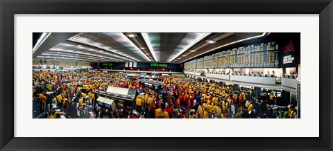 Framed Traders in a stock market, Chicago Mercantile Exchange, Chicago, Illinois, USA Print