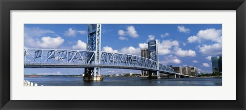 Framed Main Street Bridge, Jacksonville, Florida, USA Print